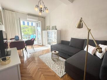 Stara Novalja, Гостиная в размещении типа apartment, доступный кондиционер и WiFi.