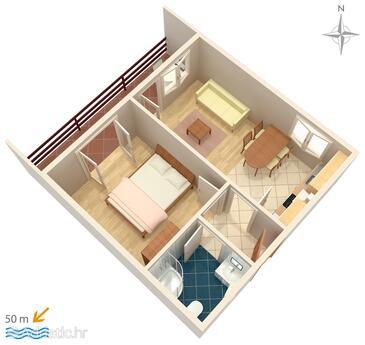 Pag, План в размещении типа apartment, Домашние животные допускаются и WiFi.