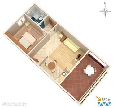 Kornić, План в размещении типа apartment, Домашние животные допускаются и WiFi.