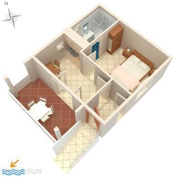 Stara Novalja, Proiect în unitate de cazare tip house.
