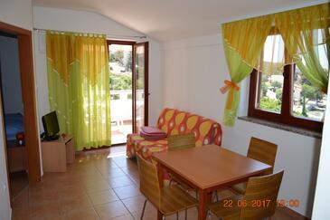 Jakišnica, Living room in the apartment, dostupna klima, dopusteni kucni ljubimci i WIFI.
