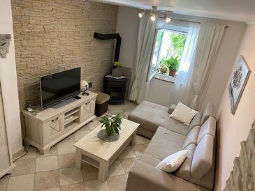 Metajna, Obývací pokoj v ubytování typu apartment, WiFi.