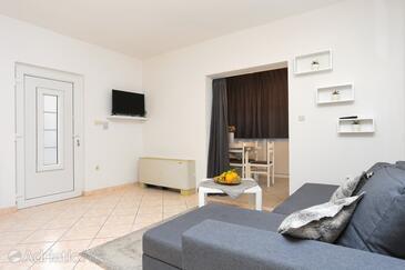 Rogoznica, Salon dans l'hébergement en type apartment, climatisation disponible et WiFi.