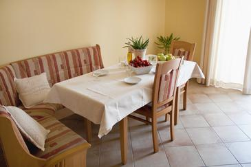 Vodice, Dining room in the house.
