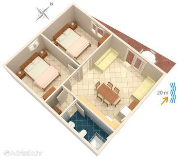 Bilo, Plan in the apartment.
