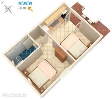 Bilo, План в размещении типа apartment.
