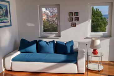 Tribunj, Living room in the apartment, dopusteni kucni ljubimci i WIFI.