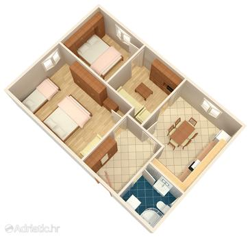 Zabla e two bedroom apartment with air conditioning a for Apartment wifi plans