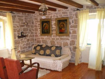 Šepurine, Living room in the apartment.