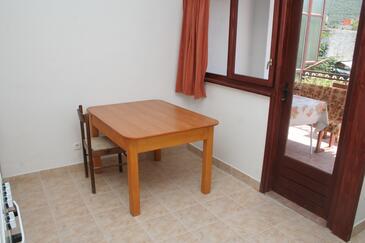 Grebaštica, Dining room in the apartment.