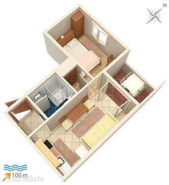 Rogoznica, Plan in the apartment.