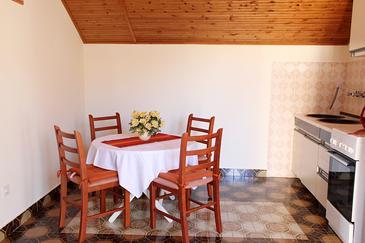 Žaborić, Dining room in the apartment, dostupna klima i WIFI.
