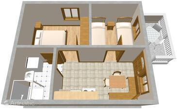 Vantačići, Plan in the apartment, WIFI.