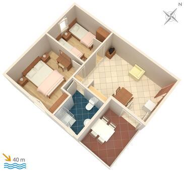 Sevid, Plan kwatery w zakwaterowaniu typu apartment, WIFI.