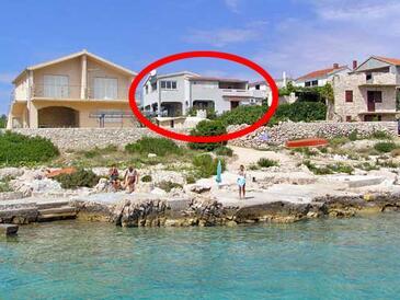 Sevid, Trogir, Objekt 4287 - Ubytovanie blízko mora s kamienkovou plážou.