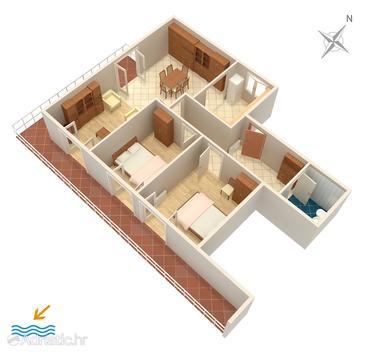 Grebaštica, Proiect în unitate de cazare tip apartment, WiFi.