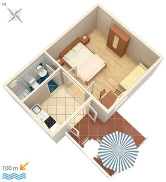 Rogoznica, Plano in the apartment, WiFi.