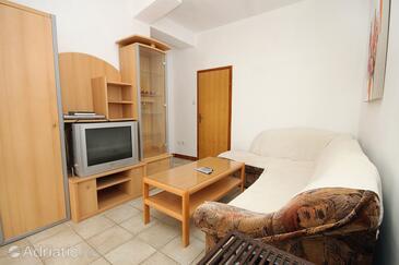 Vlašići, Obývací pokoj v ubytování typu apartment, s klimatizací a WiFi.