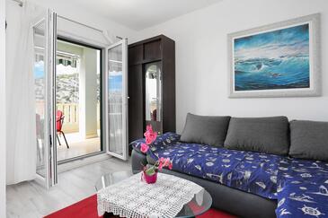 Ražanj, Obývací pokoj v ubytování typu apartment, domácí mazlíčci povoleni a WiFi.