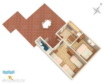 Lavdara, Nacrt u smještaju tipa apartment, kućni ljubimci dozvoljeni i WiFi.