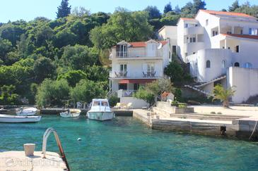 Račišće, Korčula, Property 4338 - Apartments near sea with rocky beach.