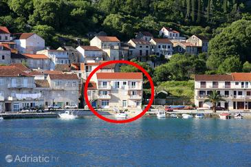 Račišće, Korčula, Объект 4344 - Апартаменты вблизи моря с галечным пляжем.