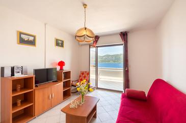 Tri Žala, Living room in the apartment, air condition available and WiFi.