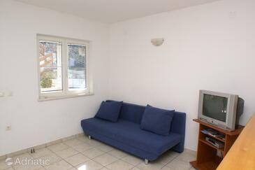 Korčula, Living room in the apartment, dostupna klima, dopusteni kucni ljubimci i WIFI.