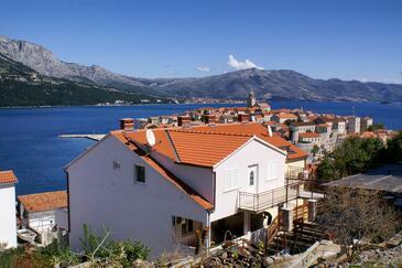 Korčula, Korčula, Szálláshely 4349 - Apartmanok a tenger közelében kavicsos stranddal.