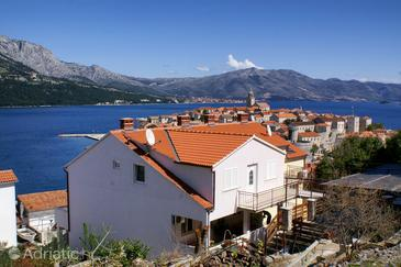 Korčula, Korčula, Objekt 4349 - Ubytování v blízkosti moře s oblázkovou pláží.