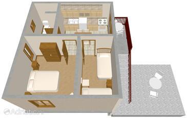 Veli Rat, План в размещении типа apartment, WiFi.