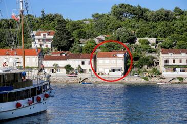 Račišće, Korčula, Objekt 4361 - Ubytovanie blízko mora s kamienkovou plážou.