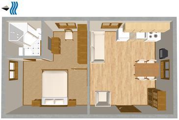 Veli Rat, Plan in the apartment, WIFI.