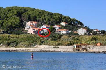 Lumbarda, Korčula, Objekt 4376 - Ubytování v blízkosti moře s písčitou pláží.