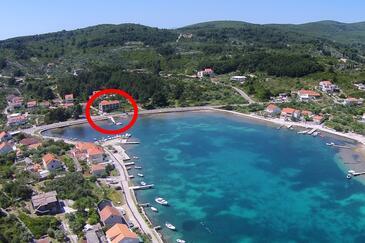 Lumbarda, Korčula, Objekt 4385 - Ubytovanie blízko mora s kamienkovou plážou.