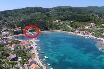 Lumbarda, Korčula, Objekt 4385 - Ubytování v blízkosti moře s oblázkovou pláží.