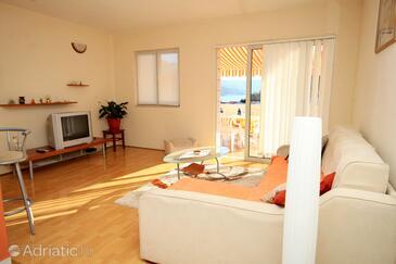 Medvinjak, Living room in the apartment, dostupna klima, dopusteni kucni ljubimci i WIFI.