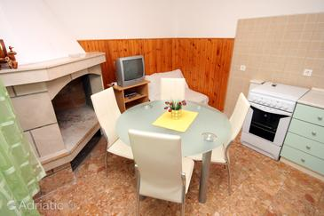Zavalatica, Dining room in the apartment, WIFI.