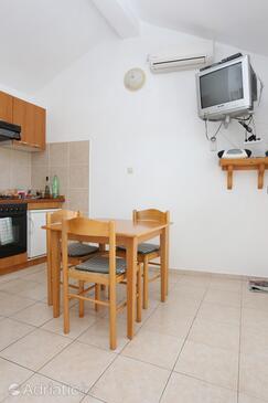 Lumbarda, Dining room in the apartment, dostupna klima, dopusteni kucni ljubimci i WIFI.