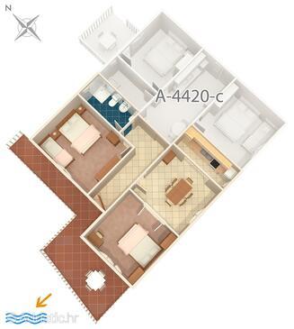 Zavalatica, Plan in the apartment, dopusteni kucni ljubimci i WIFI.
