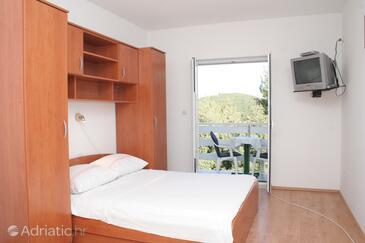 Žrnovska Banja, Спальня в размещении типа studio-apartment, доступный кондиционер, Домашние животные допускаются и WiFi.