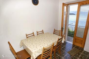 Lumbarda, Dining room in the apartment, dopusteni kucni ljubimci i WIFI.