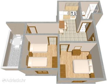 Sali, План в размещении типа apartment, Домашние животные допускаются и WiFi.
