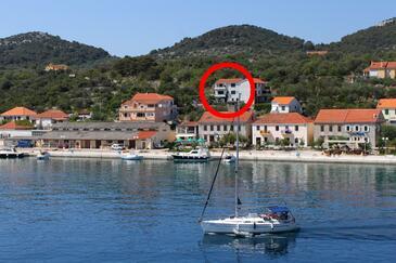 Sali, Dugi otok, Property 444 - Apartments near sea with pebble beach.