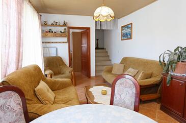 Lumbarda, Pokój dzienny w zakwaterowaniu typu apartment, dopusteni kucni ljubimci i WIFI.
