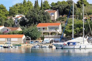 Lumbarda, Korčula, Objekt 4442 - Ubytování v blízkosti moře s oblázkovou pláží.