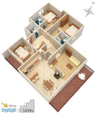Korčula, План в размещении типа apartment, WiFi.