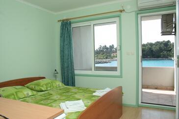 Prižba, Ložnice v ubytování typu room, domácí mazlíčci povoleni.