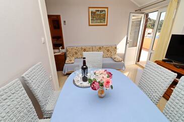 Brna, Obývací pokoj v ubytování typu apartment, dopusteni kucni ljubimci i WIFI.