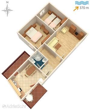 Sali, Schema nell'alloggi del tipo apartment, animali domestici ammessi e WiFi.